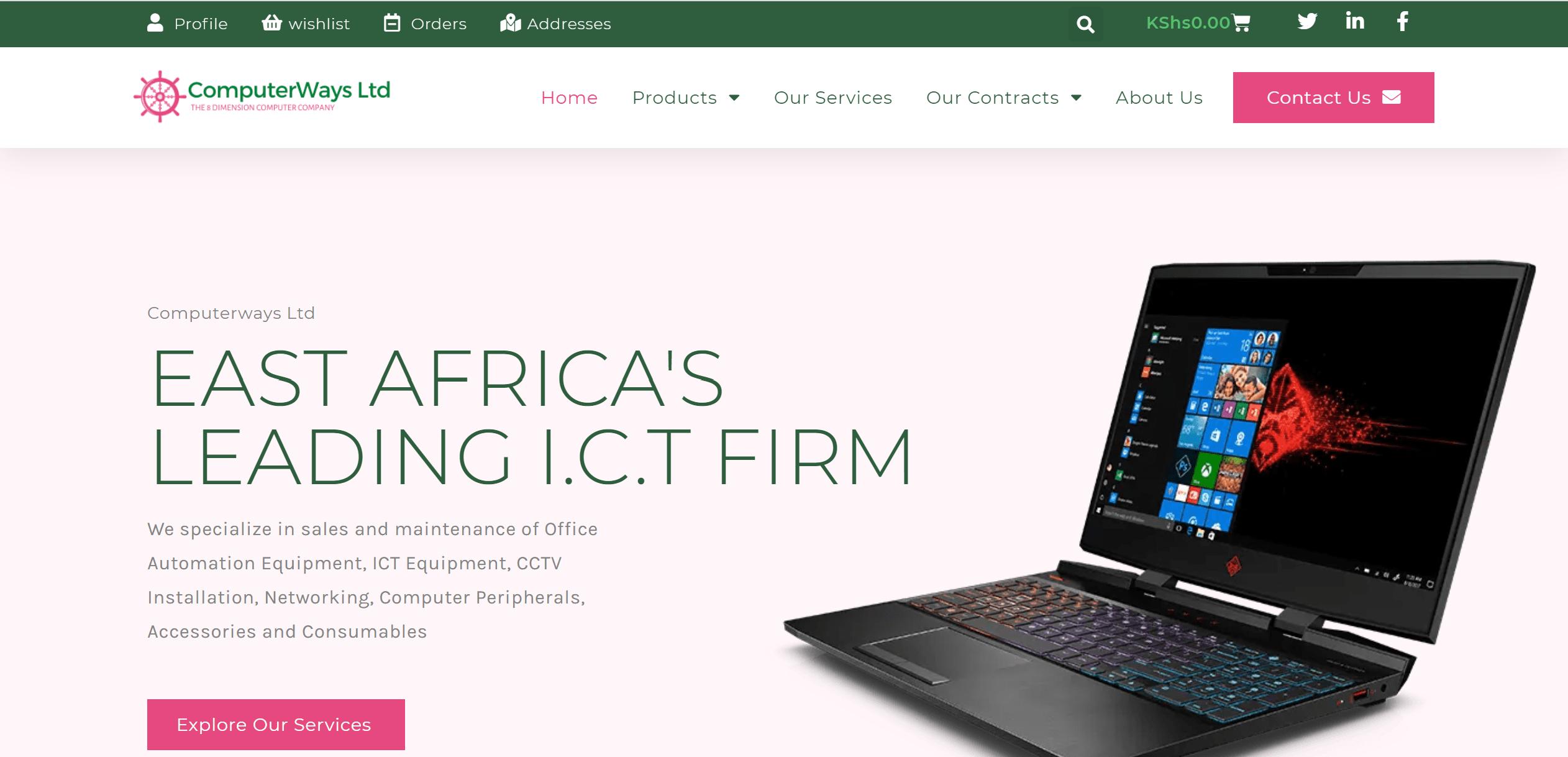 Computerways Ltd Landing Page