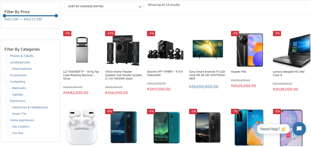 Tricom Technologies Ltd Ecommerce Website designed by Sohn and Sol Technologies